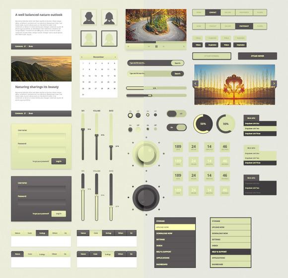 Nature Inspired UI Kit