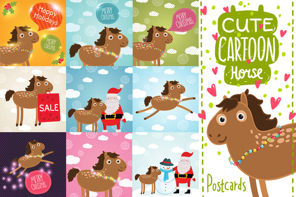 Cartoon Horse Illustrations