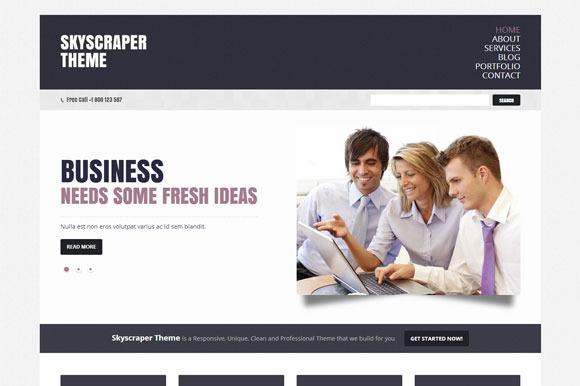 Skyscraper Business WordPress Theme
