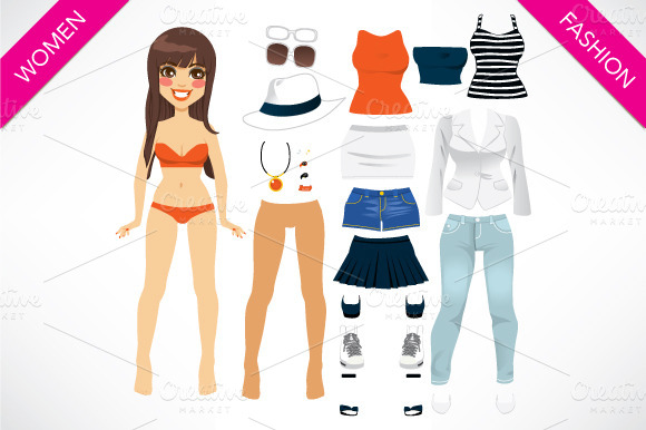 Paper Doll Women Clothing
