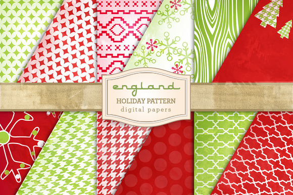 Holiday Patterns Digital Paper