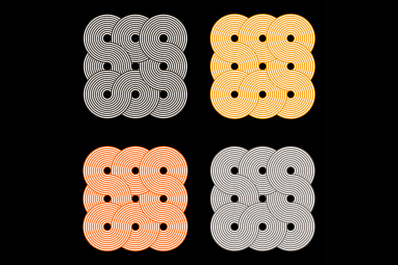 Abstract Overlapping Circle Pattern