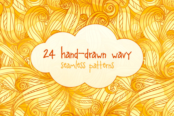 24 Hand-drawn Seamless Patterns