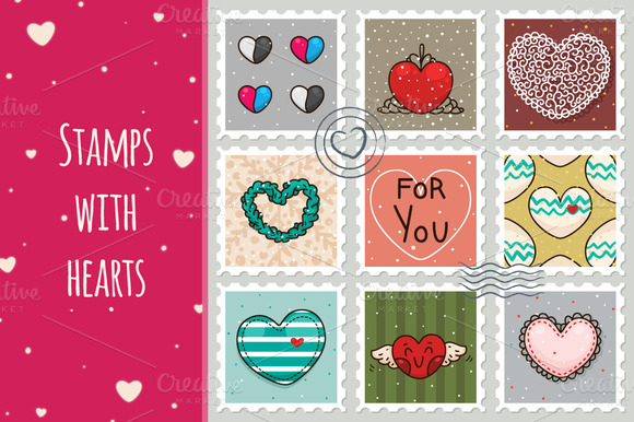 Stamps With Hearts