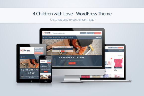 4 Children Charity WordPress Theme