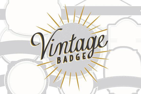 8 Vintage Badge