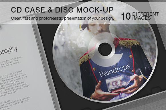 CD Case Disc Mock-up