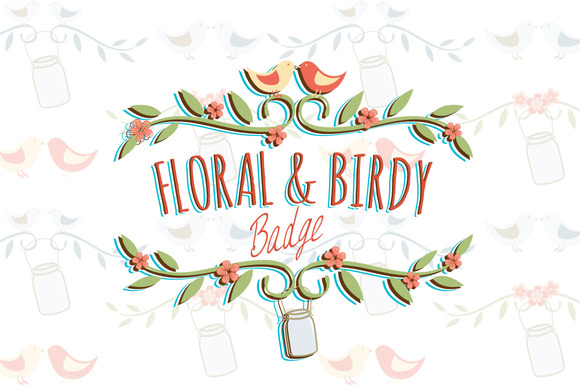 Floral Birdy Badge Vol.1
