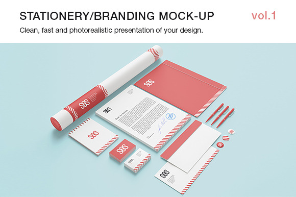 Stationery Branding Mock-up Vol.1