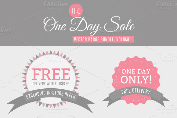 One Day Sale Badge Bundle Vol 1