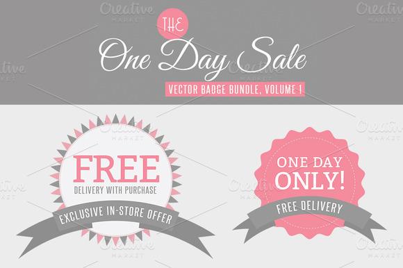 One Day Sale Badge Bundle Vol 1