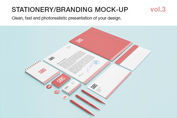 Stationery Branding Mock-up Vol.3