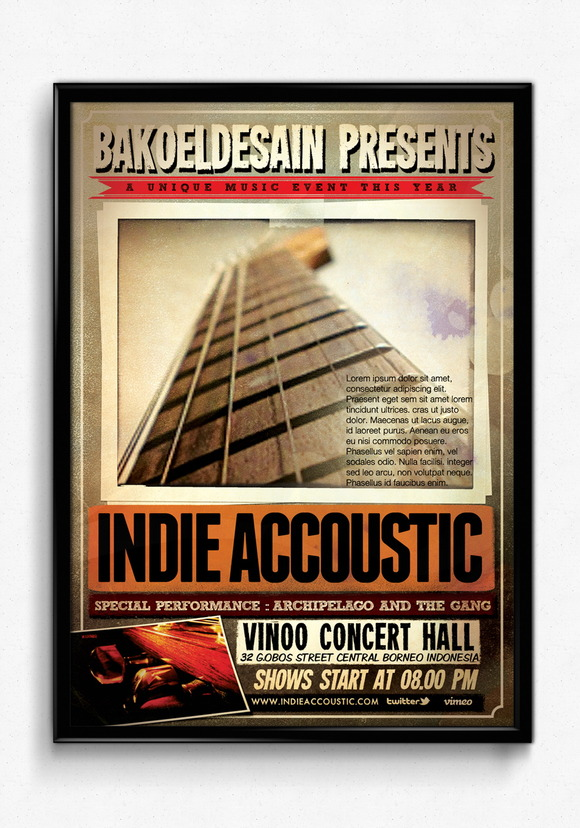 Indie Accoustic Sessions Flyer