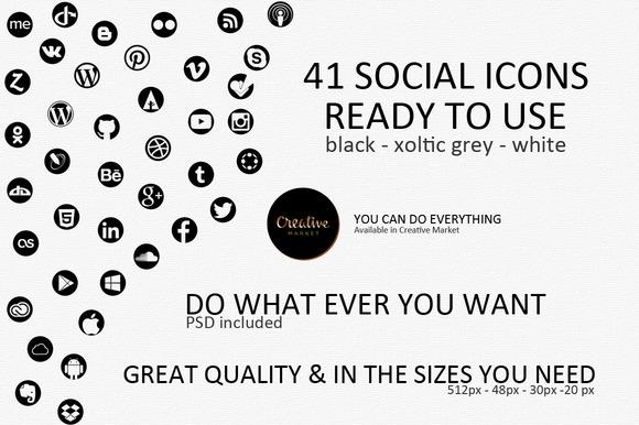 41 Social Icons
