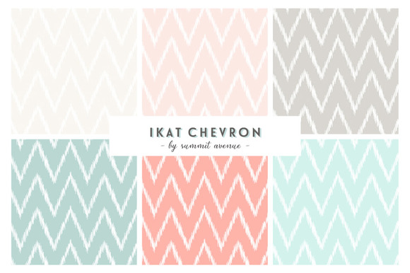 Ikat Chevron Patterns Papers