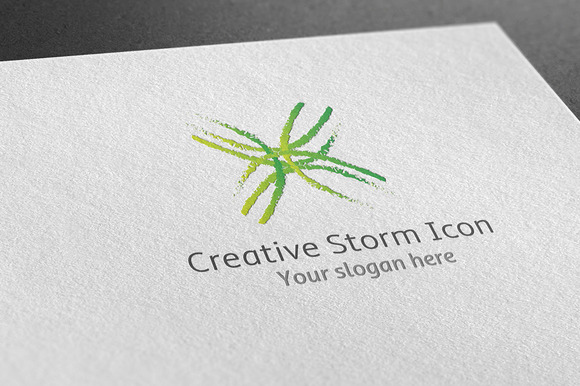 Creative Storm Icon Logo