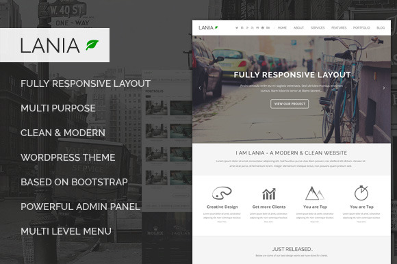 Lania Responsive WordPress Theme