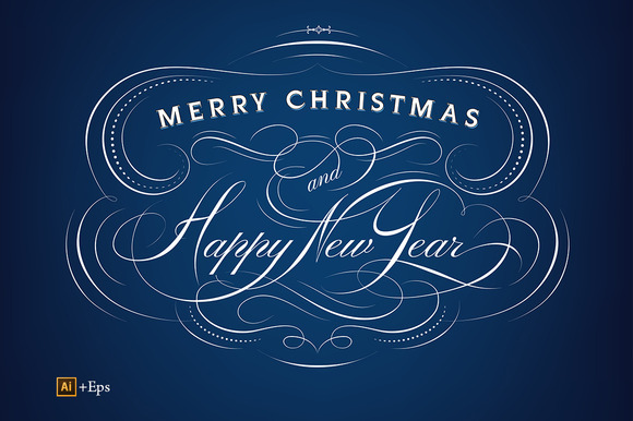 Christmas New Year Calligraphy