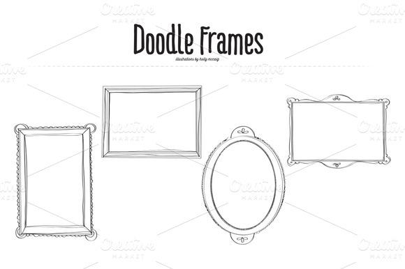 Doodle Frames Clipart