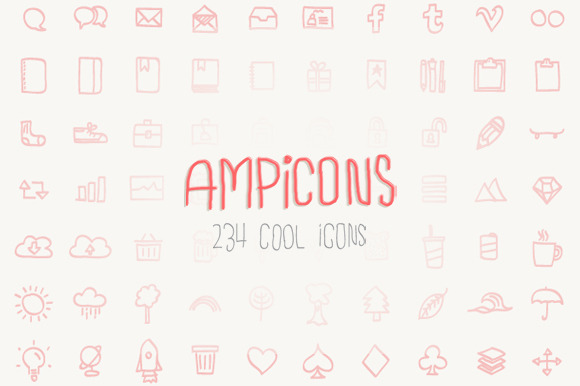 Ampicons 234 Brushed Icons
