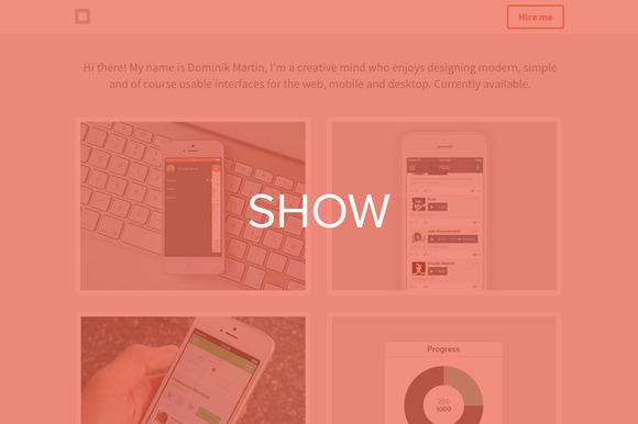 Show Portfolio Theme HTML CSS