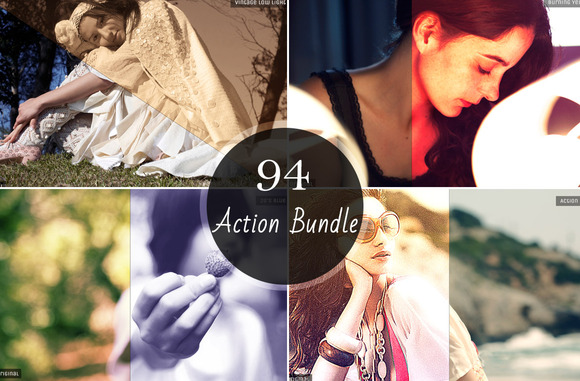 94 In 1 Photoshop Action Bundle