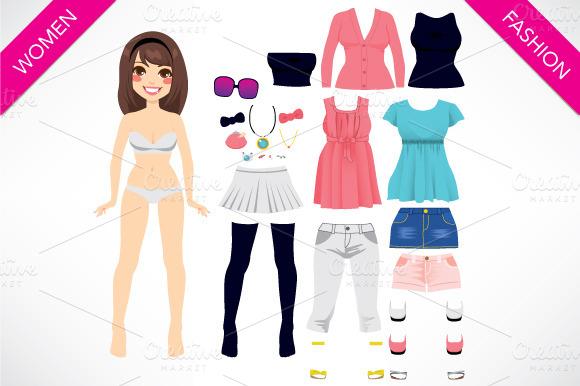 Paper Doll Women Fashion