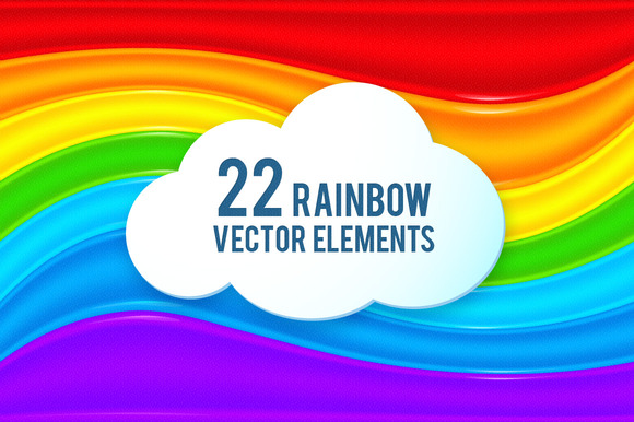 22 Rainbow Vector Elements
