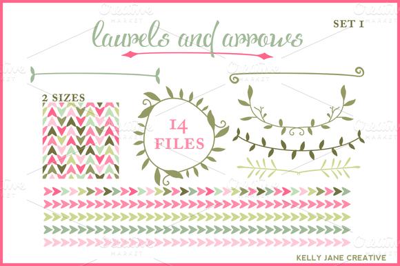 Arrows Laurels Blog Graphics Vector
