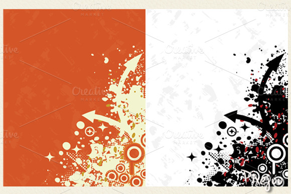 2 Urban Backgounds In Vector JPG