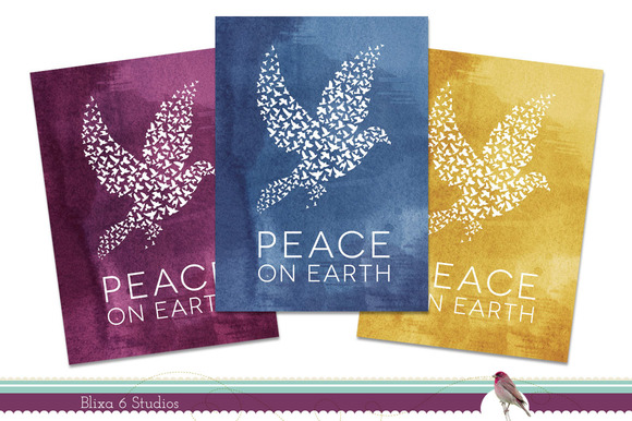 Printable Watercolor Holiday Cards