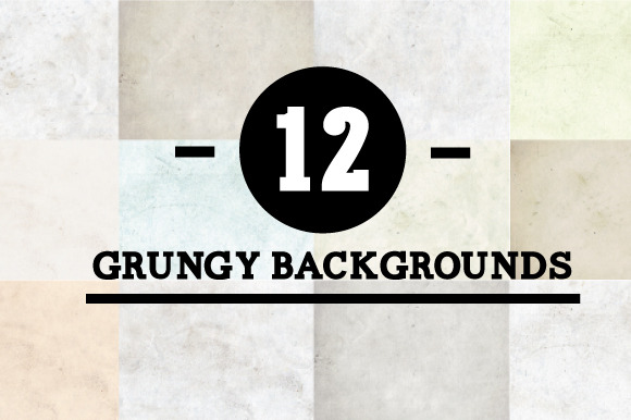 12 Grungy Backgrounds