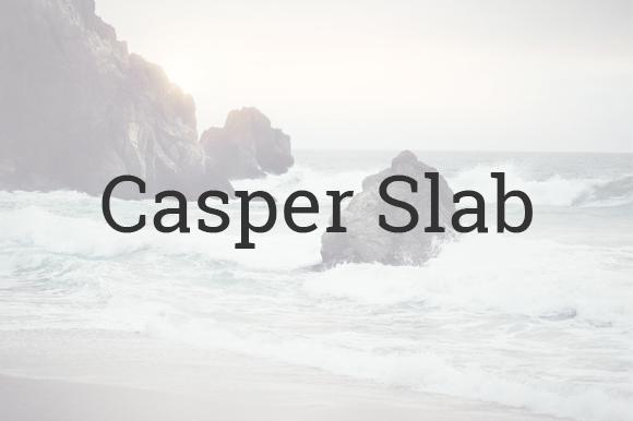 Casper Slab Responsive Ghost Theme