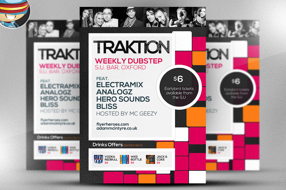 Traktion Flyer Template 1
