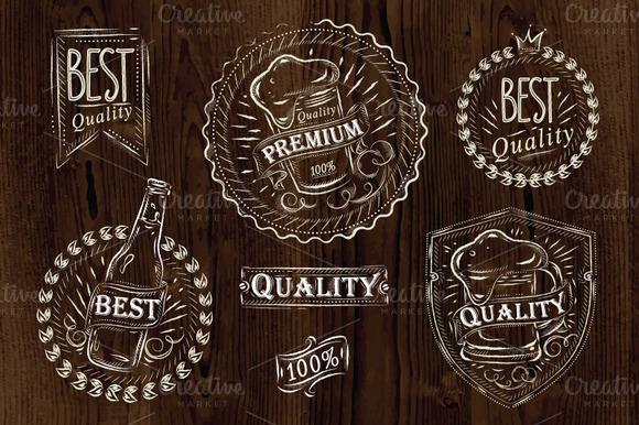 Vintage Design Element Beer Quality