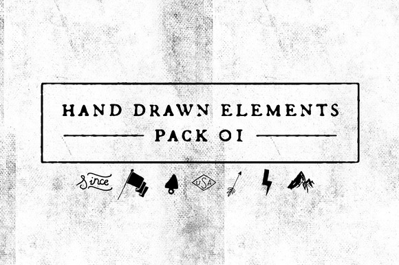 Hand Drawn Elements Pack 01