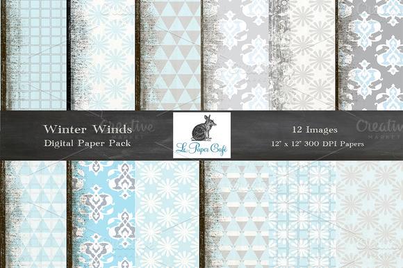 Winter Winds Digital Paper