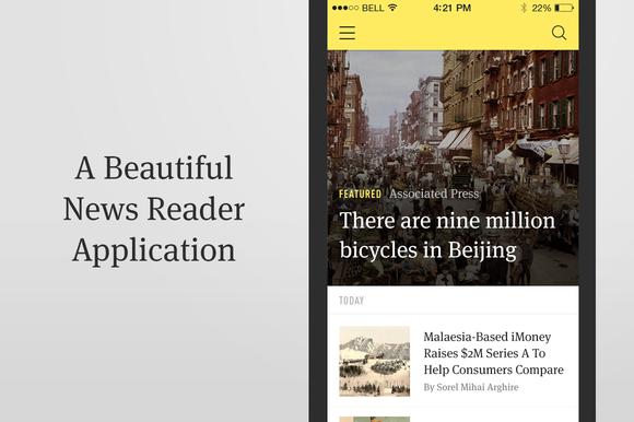 News Reader IOS App Template