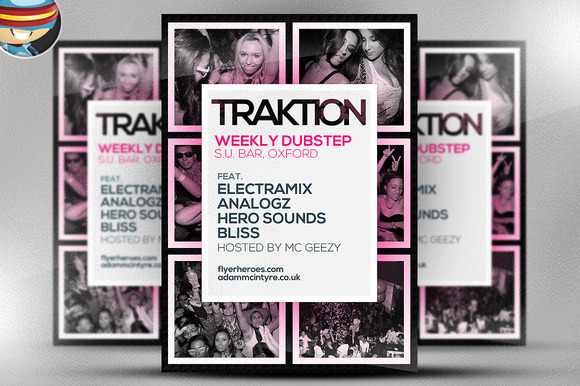 Traktion Flyer Template 3