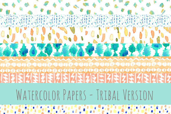 Tribal Watercolor Papers