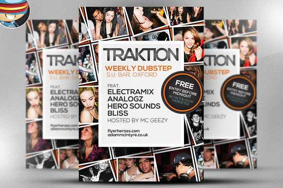 Traktion Flyer Template 7