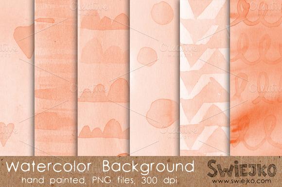 Watercolor Background Orange Peach