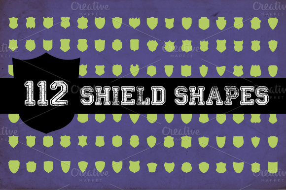 112 Vector Shield Shapes