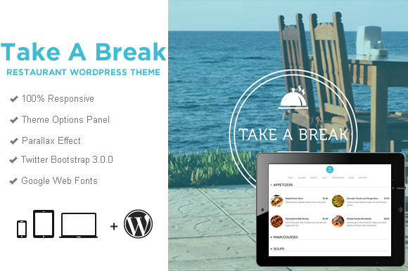 Take A Break Restaurant WP Theme