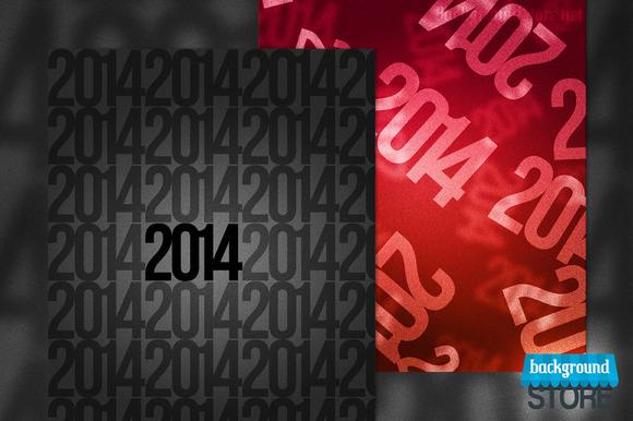 2014 New Year Backdrop
