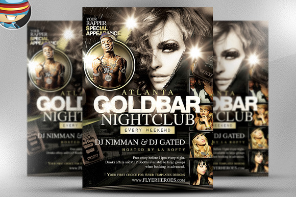 Goldbar Flyer Template