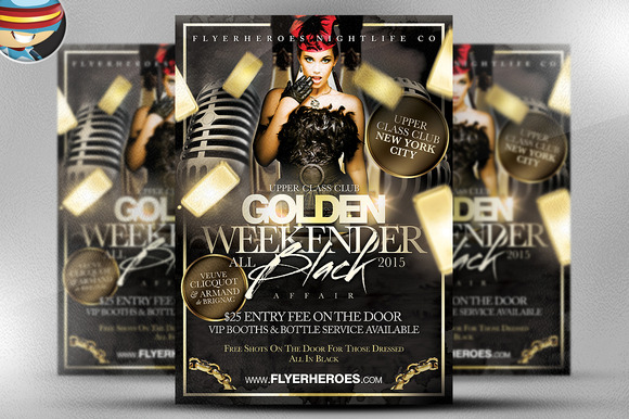 Golden Weekender Flyer Template