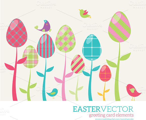 Easter Greeting Card Elements Vol 1