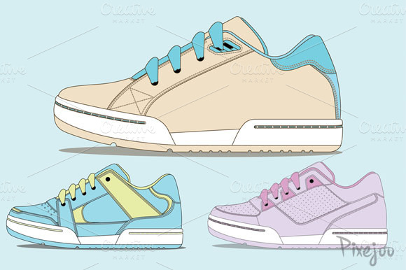 Sneaker Clipart Collection In Vector
