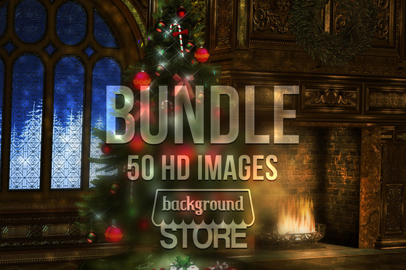 Christmas Backgrounds Bundle